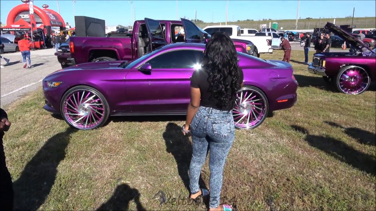 Veltboy Candy Purple Mustang On Forgiato Wheels K - Mustangs of memphis car show