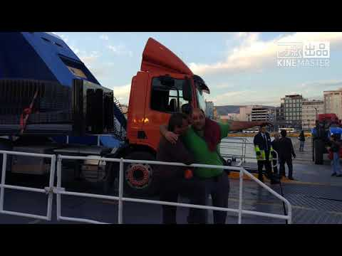 How do Trucks Travel by Sea? Mega Ferry Shipping Huge Vehicles in Greece