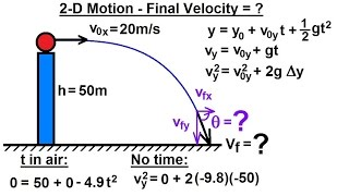Physics - Mechanics: Projectile Motion (27 of 31) 2-D Motion: Final Velocity=? (Example 1)