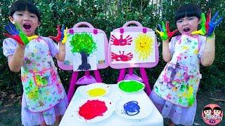 หนูยิ้มหนูแย้ม   ระบายสีด้วยมือ Kids Activity