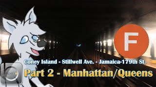 OpenBVE: NYCT Ⓕ Coney Island/Stillwell Ave. - Jamaica/179th St. - Part 2 (Mhtn/Queens)