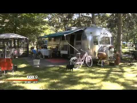 Fox 9 news visits the Airstream Park in clear lake,mn