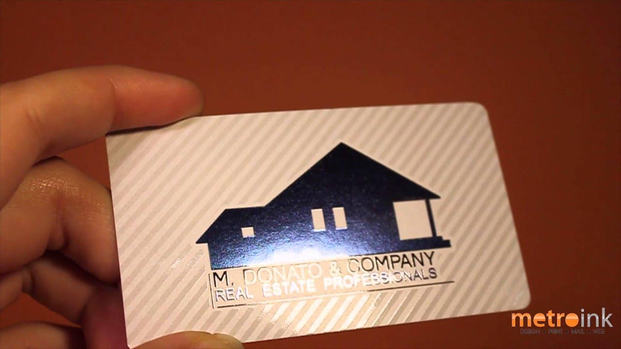 Metroink akua foil business card m donato youtube metroink akua foil business card m donato colourmoves