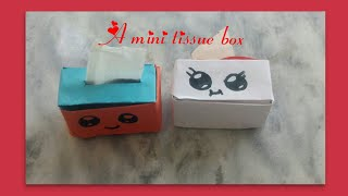 how to make a miniature tissue box//Easy crafts and decors