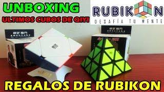 regalos de rubikon   unboxing de 2 cubos qiyi qiming pyraminx y qiyi qicheng skewb