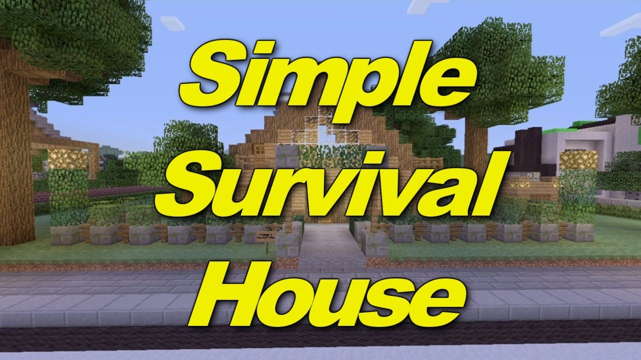 Minecraft Xbox 360: Simple Survival House! (House Tours of ...