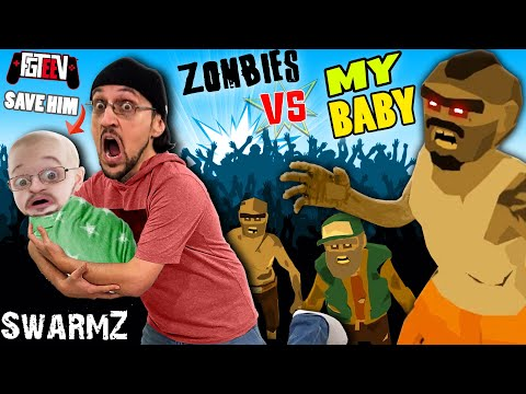 SAVE THE BABY from ZOMBIES! SwarmZ (FGTeeV)
