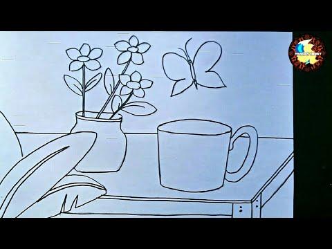 Cara Menggambar Flora Fauna Dan Alam Benda Youtube
