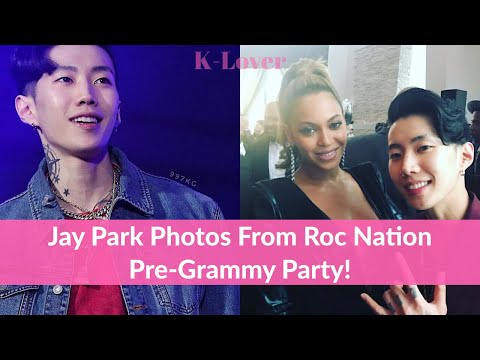 Jay Park Pictures With American Artist At Roc Nation Pre-Grammy Party