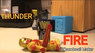ROBLOX STOPMOTION | Thunder VS Fire