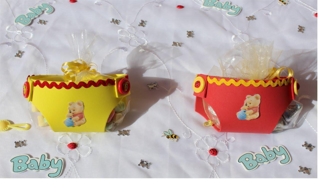 Baby Shower Favor (Winnie The Pooh Foam Diaper)