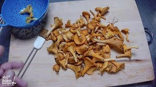 comment laver girolles