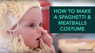 How to Make a Spaghetti and Meatballs Baby Costume