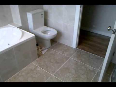 Bathroom Floor And Wall Half Height 6x6 3x6 Youtube