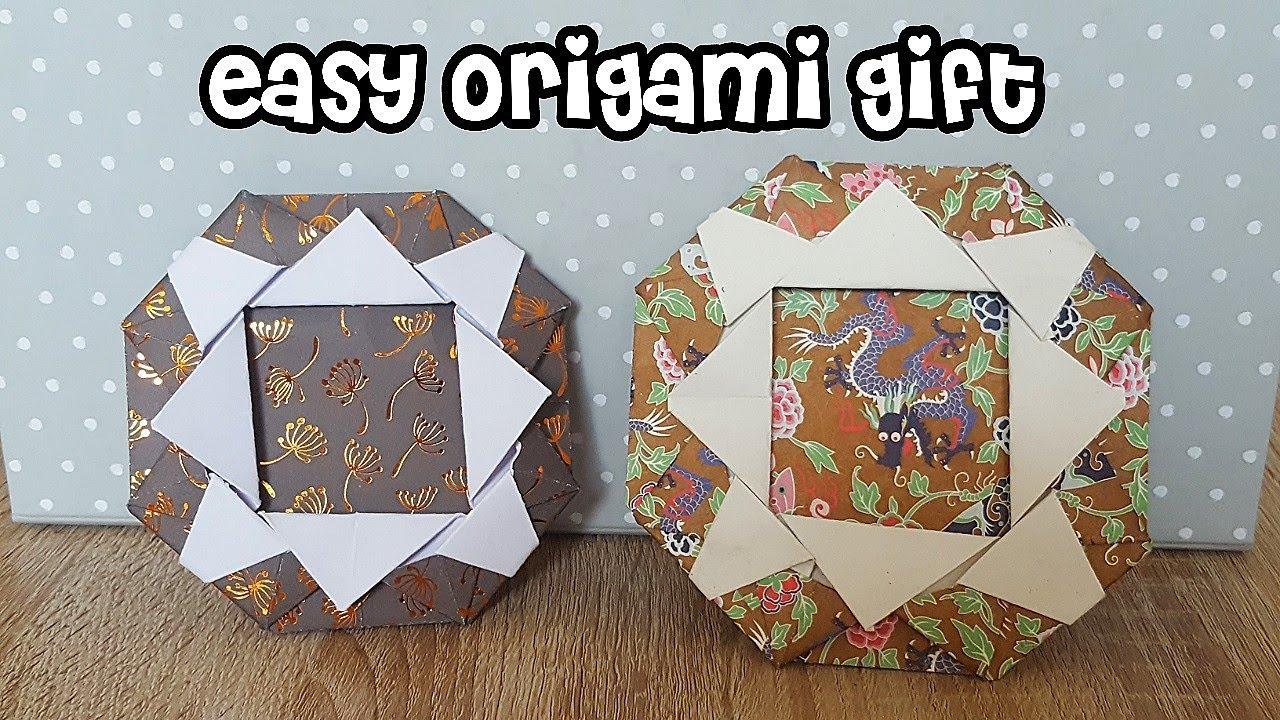 Einfache Origami Bilderrahmen/Easy Origami Gift - YouTube