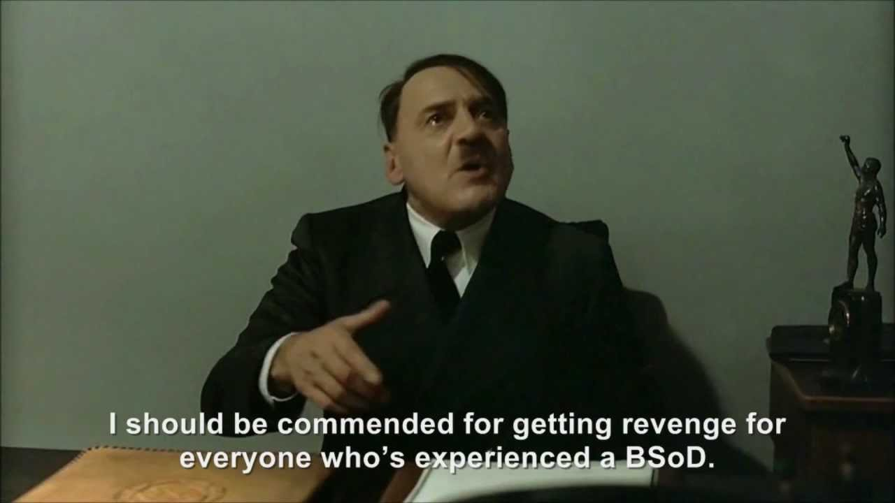 Hitler throws a pie at Bill Gates
