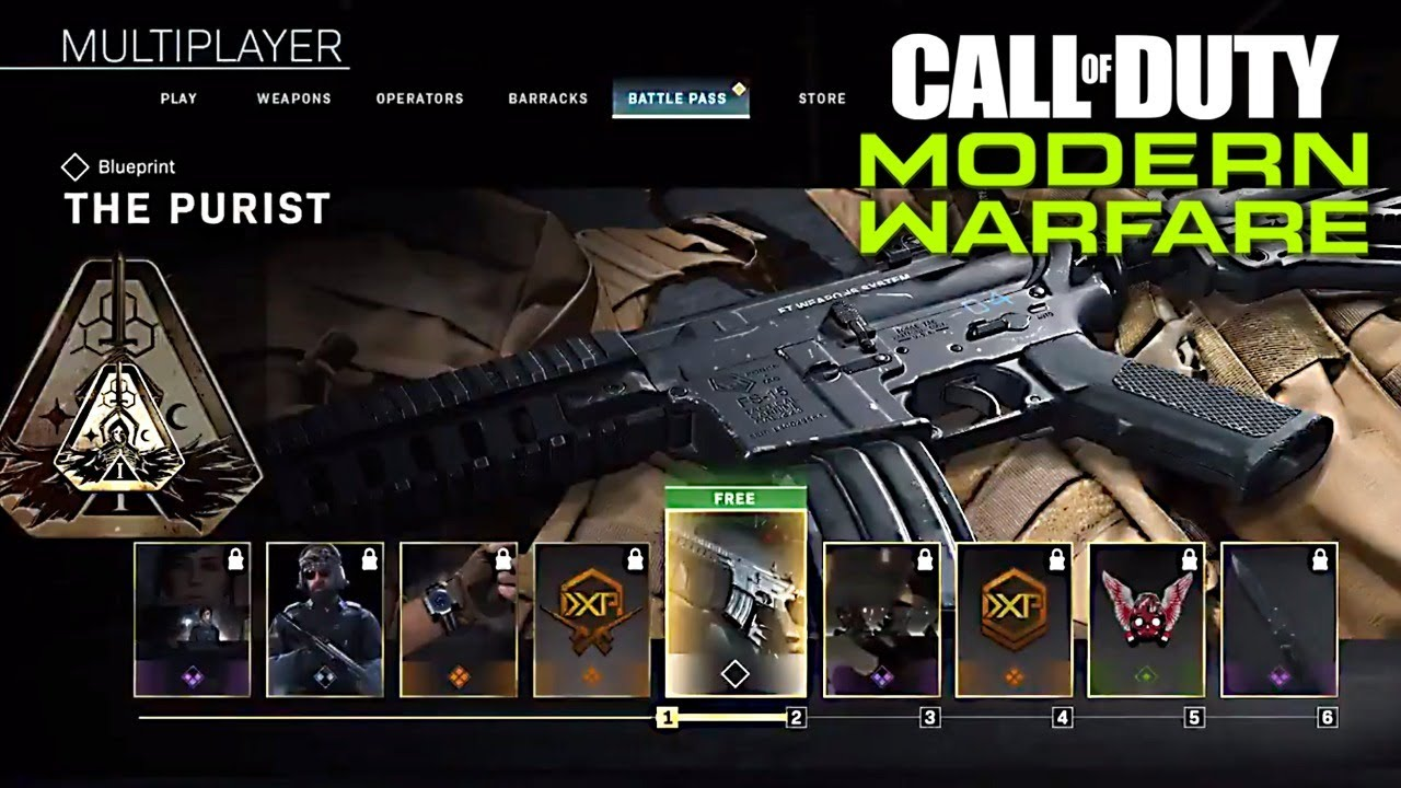 Call Of Duty Modern Warfare Season 1 Battle Pass New Maps And Weapons Cod Mw Season 1 Gameplay Youtube
