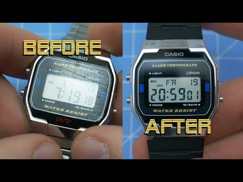 Polishing Scratched Casio Crystal And Strap Swap