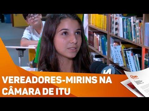 Vereadores-mirins na câmara de Itu - TV SOROCABA/SBT
