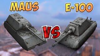 НА ЗАБИВ#29 | Какой немец лучше | Maus или E-100 | WoT Blitz | Zlobina Liza