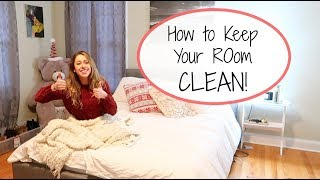 My Top 5 Ways to KEEP Your Room CLEAN | Habits for a Clean Room