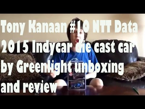 Tony Kanaan #10 NTT Data 2015 Indycar die cast car by Greenlight unboxing and review