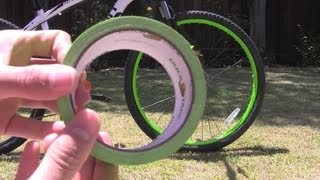 How To: Neon Bike Rims Using Duck Tape