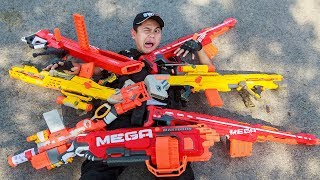 LTT Game Nerf War : Winter Warriors SEAL X Nerf Guns Fight Gang Rocket Person Shooter Purge