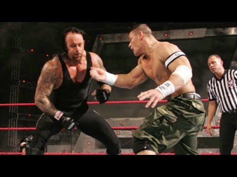 #مباراة اسطورية1 - اندرتيكر وباتيستا ضد جون سينا وشون مايكلز كاملة