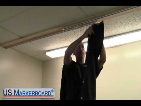 How to Install Blackout Curtains - US Markerboard