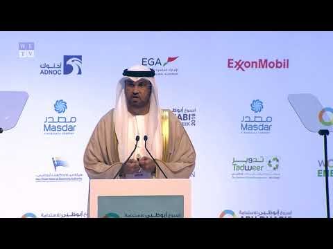 Sultan Ahmed Al Jaber, opening keynote at the World Future Energy Summit 2018