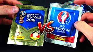 PANINI WM 2018 vs EM 2016 UNBOXING BATTLE 😱🔥