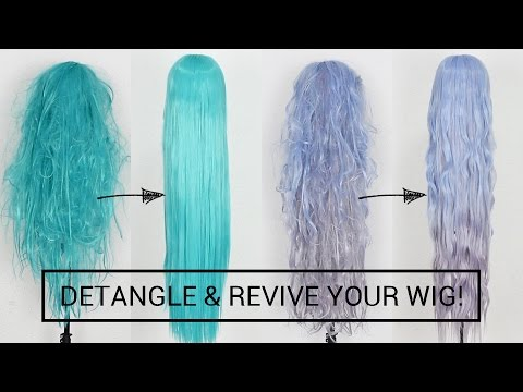 Detangle and Revive Cosplay Wigs Like A PRO + PREVENT TANGLES WHEN ... 013a615a2826