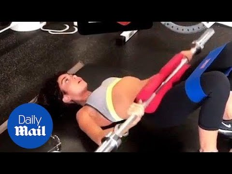 Sarah Hyland shows off her intense gym session in Beverly Hills