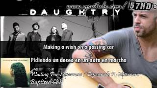 Daughtry - Waiting For Superman HD Lyric Video Subtitulado Español English Lyrics