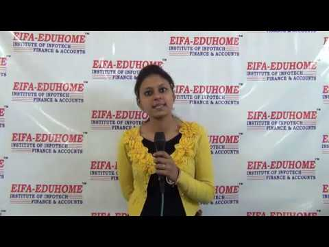 EIFA-EDUHOME STUDENT GIVES TESTIMONIAL AFTER DOING PROFESSIONAL ACCOUNTANT COURSE