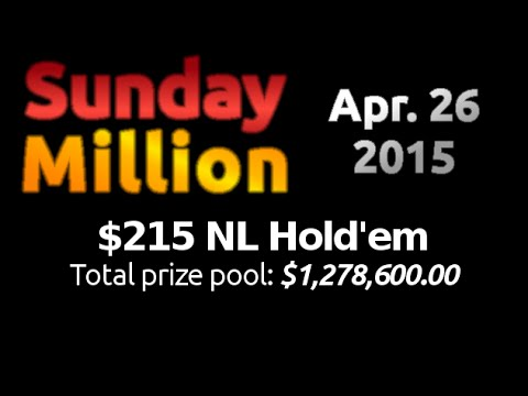 [26 April 2015] PokerStars Sunday Million Final Table Replay (Cards-Up) | Series Player