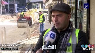 تجار وسط عمّان يشكون من تأخر أعمال إعادة تأهيل شارع الذهب - (21-1-2019)
