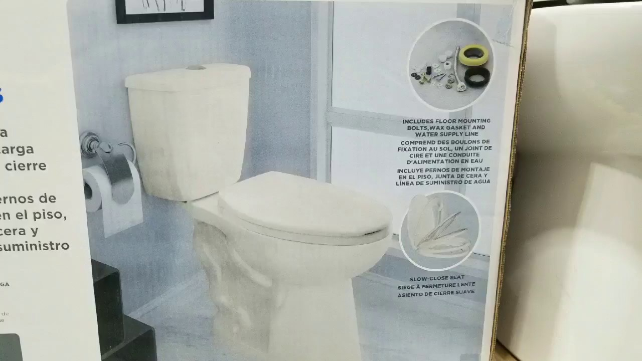 Costco Waterridge Two Piece Dual Flush Toilet 84