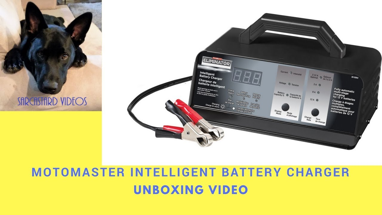 Motomaster Eliminator Battery Charger Unboxing Video