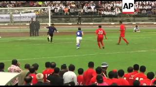 Cambodian PM plays in friendly against Thai ruling party team