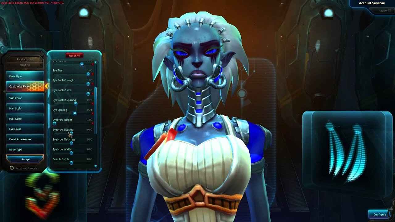 WildStar Character Creation Mordesh Female Stalker Soldier ...
