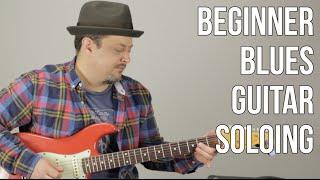 Blues Rock Soloing For Beginner Guitar - Beginner Blues Lick - E Blues