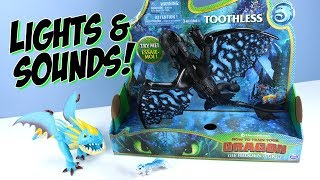 How to Train Your Dragon 3 The Hidden World Deluxe Toothless and Stormfly Toys