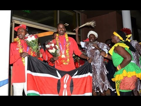 Team Kenya arrive home after IAAF World Championships in London