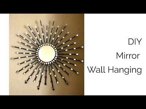 DIY Mirror wall decor- Easy Wall hanging from mirror and Cardboard