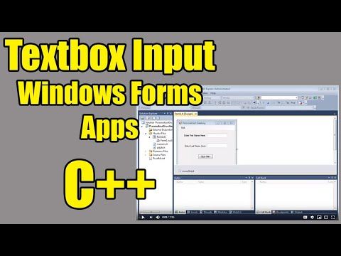 Textbox Input in Windows Forms Applications - C++