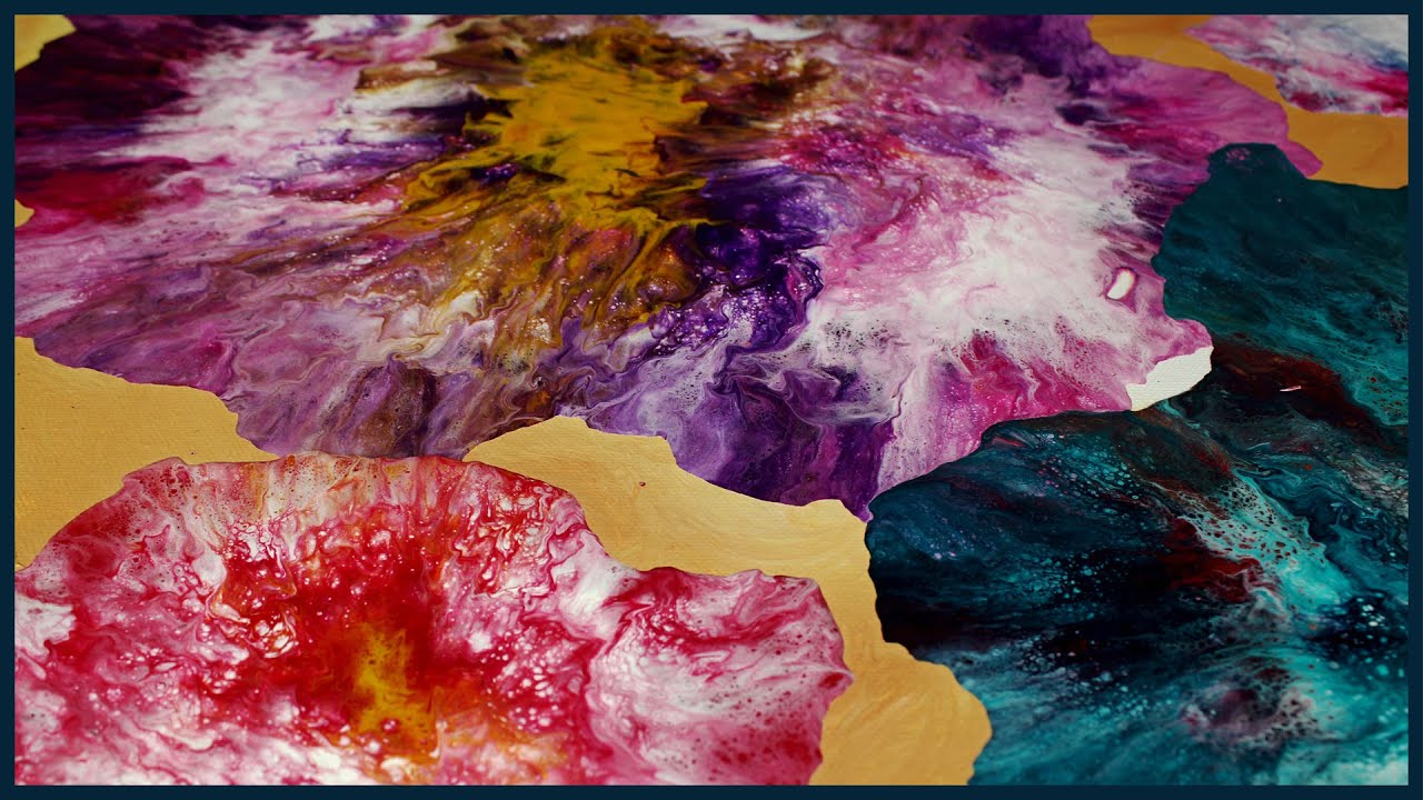 Abstract Acrylic Painting   New Combination Technique ...