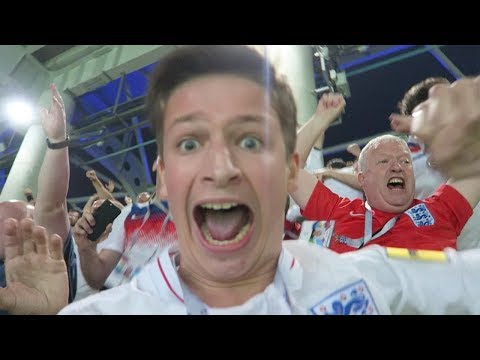 THE MOMENT ENGLAND BEAT COLOMBIA IN A PENALTY SHOOTOUT... | Colombia vs England VLOG