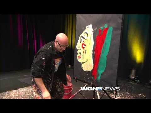 Guy Fast Paints Chicago Blackhawks Logo In Minutes On Live TV